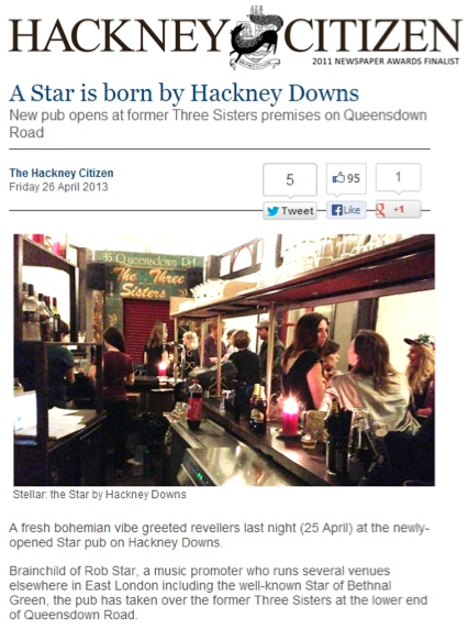 Hackney Citizen, 26th April 2013