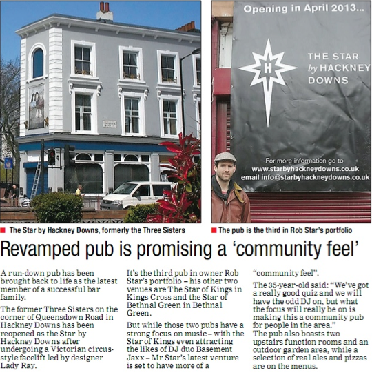 Hackney Gazette, April 2013